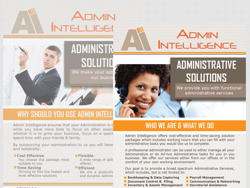 Admin Intelligence Brochure Design